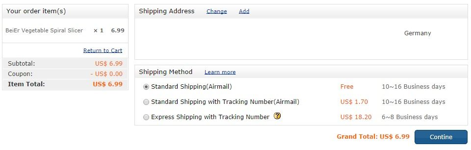 Focalprice Shipping Methods